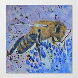 Honey Bee Print Canvas Print