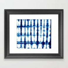 Indigo Dyed Stripe Framed Art Print