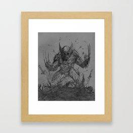 Berzerker Rage Framed Art Print