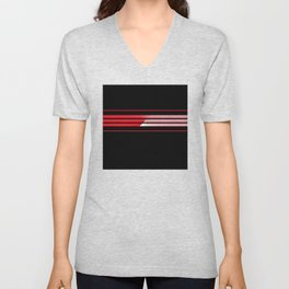 Team Colors 5...red with red Unisex V-Neck