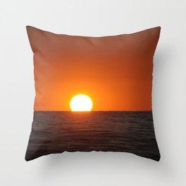 Smooth Sea Sunset Throw Pillow