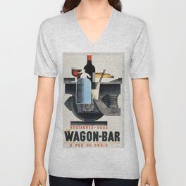 Vintage poster - Wagon-Bar Unisex V-Neck