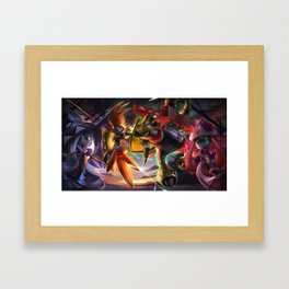Alolan Guardians Tapu koko, Tapu bulu, Tapu lele, Tapu fini Framed Art Print