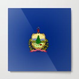 flag vermont,america,usa,Green Mountain,Vermonter, New England,Burlington,Montpelier,Rutland,Barre Metal Print