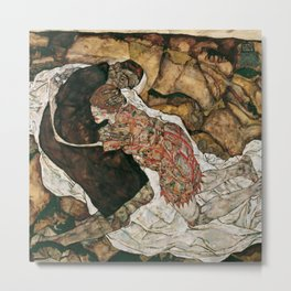 "Egon Schiele ""Death And The Maiden"" Metal Print"