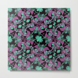 Floral Arabesque Pattern Metal Print