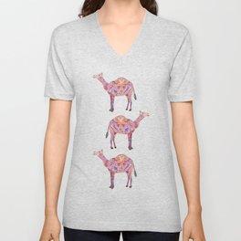 Henna Camel Unisex V-Neck