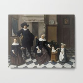 Pieter de Hooch - Portrait of a Family Metal Print