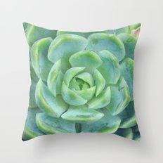 Succulent Harmony Throw Pillow