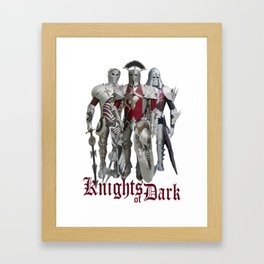 Knights of Dark Framed Art Print