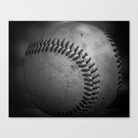 baseball Canvas Prints featuring Baseball by Christy Leigh