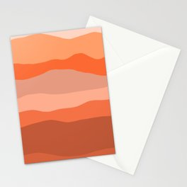 Nearby Hills Minimalist Abstract in Apricot Stationery Cards