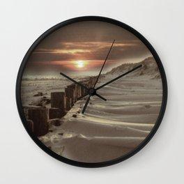 Fort Tilden Beach NYC sunset Wall Clock