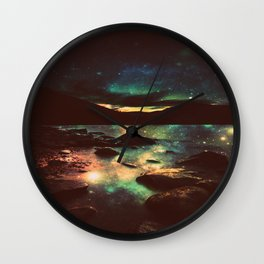 Dark Magical Mountain Lake Wall Clock