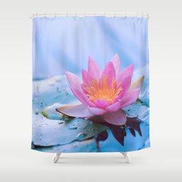 Lone Lotus Shower Curtain