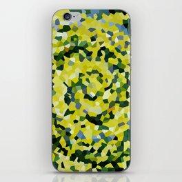 Yellow and Blue Crystallized Swirls iPhone Skin