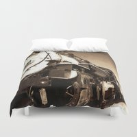 train Duvet Covers featuring Train by SteeleCat