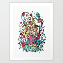 god of animals Art Print