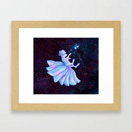 Vulpix Alola Wishing on a Star Framed Art Print