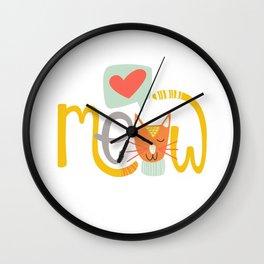 Meow Love Wall Clock