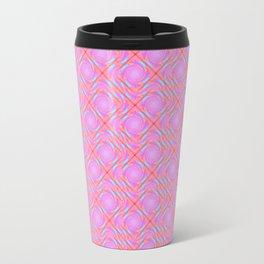 Pastel Broken Diamond Swirl Pattern Travel Mug