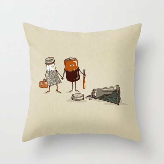 Assault and Battery Love Story. Throw Pillow