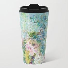 Abstract pastel spring floral Travel Mug