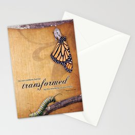 Transformed Scripture print, Romans 12:2 Stationery Cards