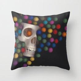 Skull and felt 2 Throw Pillow