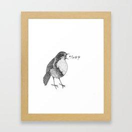 robin takes offense Framed Art Print