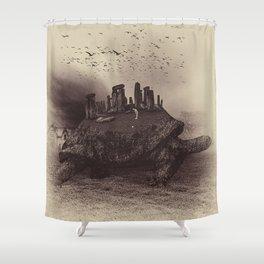 Druid Golf Sepia Shower Curtain