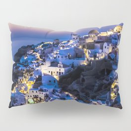 Santorini Island NightView Greece Pillow Sham