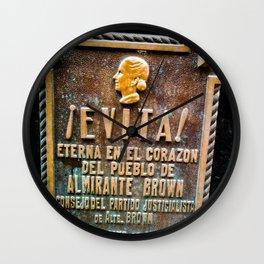Evita Eva Peron Wall Clock