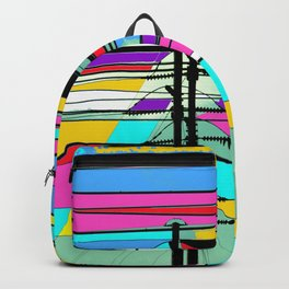 COLLAGE DIGITAL COLORFUL Backpack