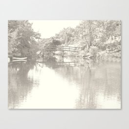 Romantic Footbridge Tote Canvas Print