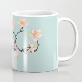 Sakura Cherry Blossoms x Mint Green Coffee Mug