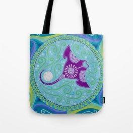 Manta Ray and Moon Mandala Tote Bag