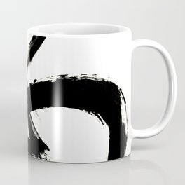 Brushstroke 3 - a simple black and white ink design Coffee Mug