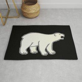 roaring polar bear, winter Rug