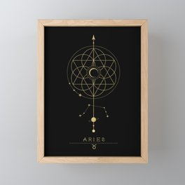 Aries Zodiac Constellation Framed Mini Art Print