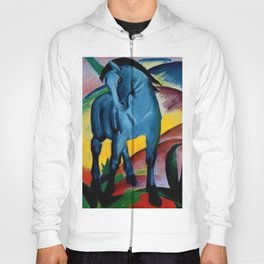 Colorful Blue Horse Friesian portrait horses painting by Franz Marc Hoody