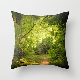 The Secret Path Throw Pillow