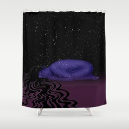 Nuit, The Lady of the Stars Shower Curtain