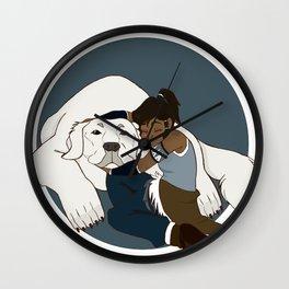 Korra and Naga Wall Clock