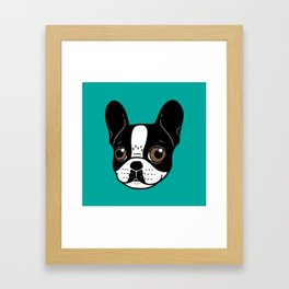 Double Hooded Pied French Bulldog Puppy Framed Art Print
