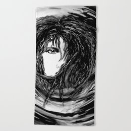 Dream in Black n White Beach Towel