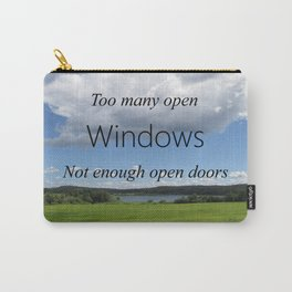 Too Many Windows Carry-All Pouch