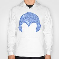 mega man Hoodies featuring Mega Man Typography by Kody Christian