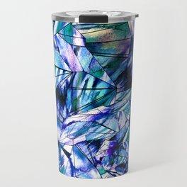Crystal Blue Sapphire Gem Travel Mug