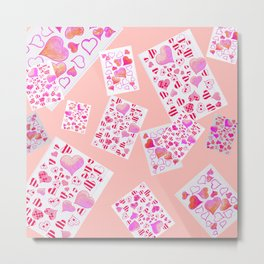 collage hearts Metal Print
